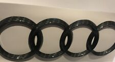 AUDI RINGS Carbon Style REAR BOOT BADGE EMBLEM 192mm X 63mm FITS TT A R series