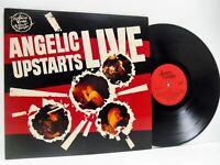 ANGELIC UPSTARTS live LP EX/VG+, ZEM 102, vinyl, album, uk, 1981, punk rock, emi