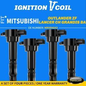 4x Ignition Coil for Mitsubishi Outlander Lancer Grandis ZF CH BA I4 2.4L 04-06