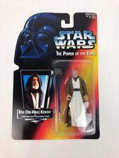 Obi Wan Kenobi Long Saber Action Figure Red Card Star Wars NIP Hasbro 1995