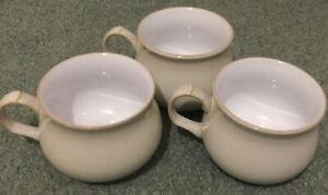 3 X Denby Linen  Tea Coffee Cups