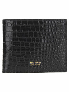 TOM FORD Men's Wallets Black Leather NIB Authentic