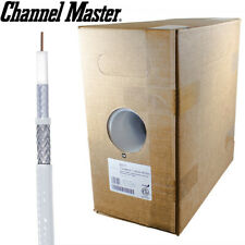 """Channel Master 300"""" RG6 Coaxial Coax Cable White Pull Box Antenna Installation"""