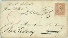 1866 W. Levant, ME Forwarded, Postage Due, inludes letter