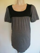 GIGGLES MATERNITY CHARCOAL GREY MARL TUNIC T-SHIRT TOP SIZE 12 14 16 18 20 NEW