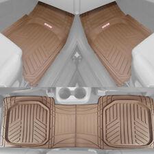 Motor Trend TriFlex Deep Dish All Weather Floor Mats for Car SUVs Trucks - Beige