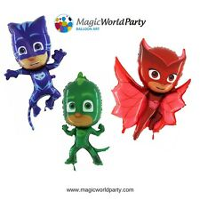 PJ Masks Kit 3 Palloncini Festa a tema Super Pigiamini sagoma Pj Mask 80 cm