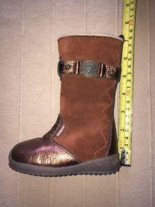Girls Infant Boots Brown UK4 EU20