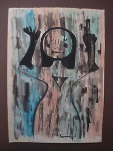 RUFINO TAMAYO    WATERCOLOR  DRAWING SIGNED ON  PAPER OF THE 60s