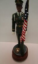 Vintage  USMC Soldier Statue Marching Vintage Collectable Marine  MC4
