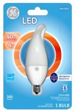 GE LED Light Bulb Candlelabra 4 Watts Dimmable Bent Tip Frosted Day Light