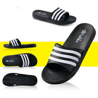 Mens Slippers Slide Flip Flops Sandals Shower Pool Beach Summer Shoes Sport Size