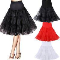 Womens Multi Layer Tulle Pleated Retro Long Maxi Tutu Dress High Waist Skirt~