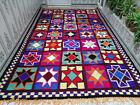 Hanmade Moroccan Vintage Wool Rug Azilal Berber Carpet Beni Ourain Tribal Rug