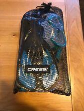 Cressi Bonete Blue Deluxe Diving Set (Diving Mask, Snorkel, Flippers &Mesh Bag)