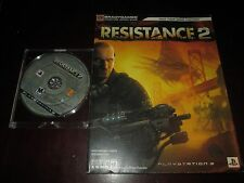 Resistance 2 (Sony PlayStation 3, 2008) With Official Strategy Guide