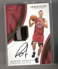 Jakob Poeltl 16/17 Immaculate auto patch RC #129 SN #12/99
