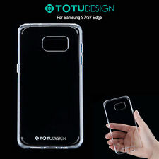 TOTU Fusion Frame Bumper Case for Samsung Galaxy S7 - Crystal Clear / Gloss Grip