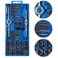 40PC PRO TAP DIE SET METRIC WRENCH CUTS M3-M12 BOLTS HARD CASE ENGINEERS KIT UK