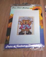 YIPPEE BEAR Design Works Cross Stitch Greetings Card Cross Stitch Kit