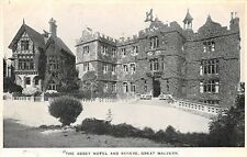 GREAT MALVERN WORCESTERSHIRE UK THE ABBEY & ANNEXE BLACK & WHITE POSTCARD