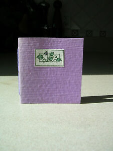 Violet State Flower of Illinois 1993 Miniature Book Society Little Farm Press