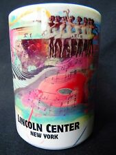 New York Lincoln Center Travel Souvenir Mug Cup by Frank Miller Holds 12 Ozs.