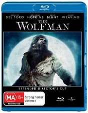 The Wolfman (Blu-ray, 2010) all regions EXTENDED DIRECTOR'S CUT