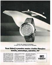 PUBLICITE  1970   TISSOT  collection montres SIDERAL