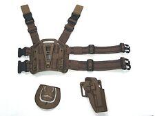 CQC Baretta 92/96 RH Pistol Paddle & Belt Drop Leg Holster Tan