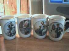 Four Norman Rockwell Cups