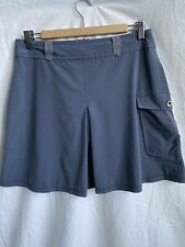 Title Nine Quick Dry Gray Pleated Athletic Skirt Side Cargo Pocket Size 8