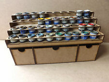 Paint Stand 40 Tin rack Deep storage draws Humbrol Revell Enamel wargame Airfix