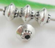500pcs Tibetan Silver Little Bicone Bead Spacers 5x4mm 256