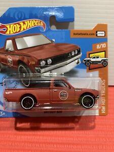 Hot wheels Datsun 620 Red HTF Short Card Hw HOT TRUCKS !!!!!!! SEALED/NEW !!!!!!