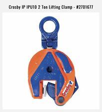 Crosby IP IPU10 2 Ton Lifting Clamp #2701677 Brand New