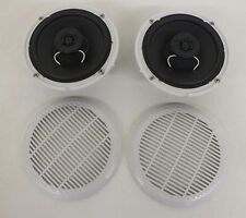 "Pair 6.5"" Coaxial 2-Way 100 Watt Marine Speakers EAS16PX87A-A Strontium Magnets"
