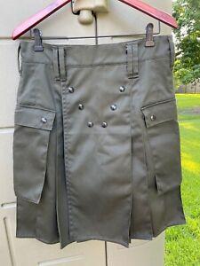Utiliclan Utilikilt Original Cargo Pocket Utility Kilt, Sage Army Green, 32/23