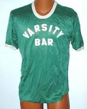 Vintage 1970 s Wolf Softball baseball jersey Green mesh Varsity Bar sewn on Xl