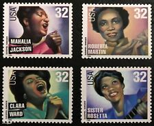 1998 Scott #3216-3219, 32¢, GOSPEL SINGERS - Mint NH - Set of 4 Singles