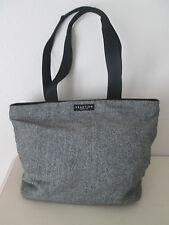 Large Kenneth Cole Reaction Gray, Black Tweed Tote