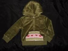 NWT GYMBOREE GINGERBREAD GIRL green velour full-zip hoodie jacket ~ girls XS 3 4