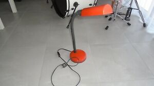 ANCIENNE LAMPE BUREAU ATELIER VINTAGE ARCHITECTE LOFT DESIGN INDUSTRIEL orange