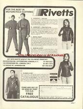 Rivetts Clothing Motorcycle 1977 Magazine Advert #2829