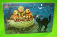 Vintage Halloween Postcard Tucks Original Series 150 Three Goblin Men Black Cat