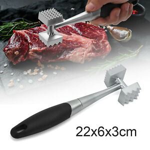 Zinc Alloy + Stainless Steel Meat Mallet Tenderizer Steak Beef Chicken Hammer UK
