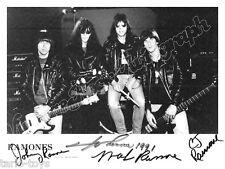 RAMONES - print signed photo - foto con autografo stampato