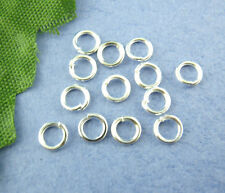 Silver Tone Open Jump Rings 4mm Dia. Findings, sold per packet of 1500