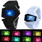 Cool Men Fashion Metal Digital LED Light Alarm Wrist DIAL Watch Sport Silicone
