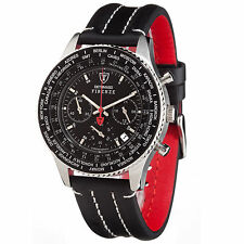 DETOMASO Firenze Mens Wrist Watch Sport Chronograph Stainless Steel Black New